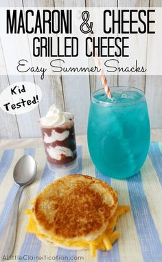 Macaroni And Cheese Grilled Cheese - Easy Summer Snack Ideas For Kids at ALittleClaireification.com #recipe #shop #1DollarDeals