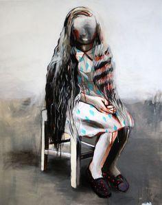 saatchiart:  Sitting Girl Hanna Ilczyszyn Belgium