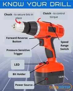 Parts of a Cordless drill Cordless Drill Reviews, Work Tools, Drill Driver, Hanging Pictures, Drills, Power Tools, Being Used, Learning, Tips