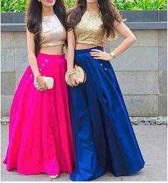 Lehenga Lehnga Dress, Lehenga Gown, Party Wear Lehenga, Indian Designer Outfits, Indian Outfits, Designer Dresses, Half Saree Designs, Lehenga Designs, Blouse Designs
