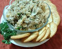 Herbed Vegan Mushroom Pate Recipe with Fresh Parsley