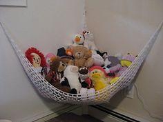 Crochet Toy Storage Hammock - Free Pattern