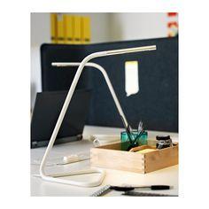 HÅRTE LED work lamp - white/silver-colour - IKEA