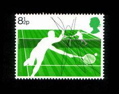 U.K. Racket Sports stamp 1977
