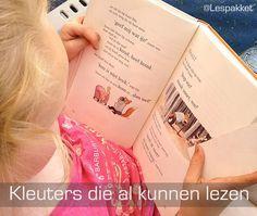 Kleuters die al kunnen lezen - jufBianca.nl - begrijpend lezen - niveaubepaling - klikklakboekje
