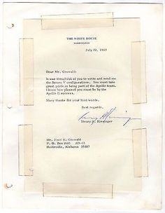 HENRY KISSINGER US SECRETARY OF STATE AUTOGRAPH SIGNED NASA APOLLO LETTER 1969