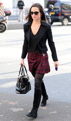 christmas wish list ~    to look like pippa in a cute tartan skirt!