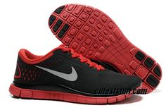 $54.29   Mens Nike Free 4.0 V2 Cool Grey Platinum University Red Silver Shoes