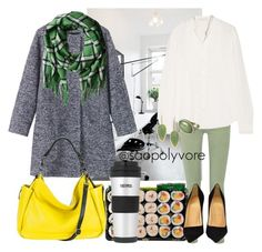 """""""monday (22/2/2016)"""" by saopolyvore ❤ liked on Polyvore featuring Current/Elliott, Vanessa Bruno, Toast, Marc by Marc Jacobs, MOFE, Christian Louboutin and INC International Concepts"""