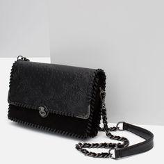 LEATHER DETAILS MESSENGER BAG from Zara
