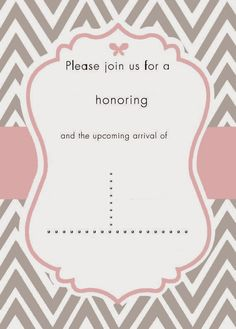 Download free template got the free baby shower invitations baby i do on a dime free template for pink and grey cheveron baby shower invite filmwisefo