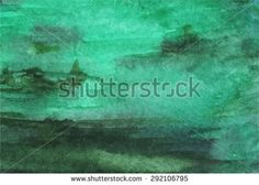 Watercolor green emerald background