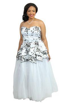 White Long Prom Dresses Debs