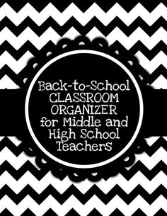 Editable classroom organizer specifically for middle and high school teachers!