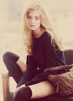Beautiful blonde vintage fashion