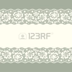 Seamless lace pattern flower vintage vector background  Stock Vector