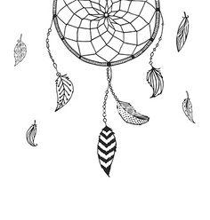 Hand drawn dreamcatcher vector doodles by Tatishdesign on VectorStock®