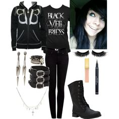 """""""Black Veil Brides Outfit"""" by scenequeen10000 on Polyvore"""