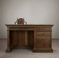 "St. James 55"" Desk - RH's St. James 55"" Desk:Evoking the architectural classicism of turn-of-the-century design, St. James is grand in both scale and beauty."