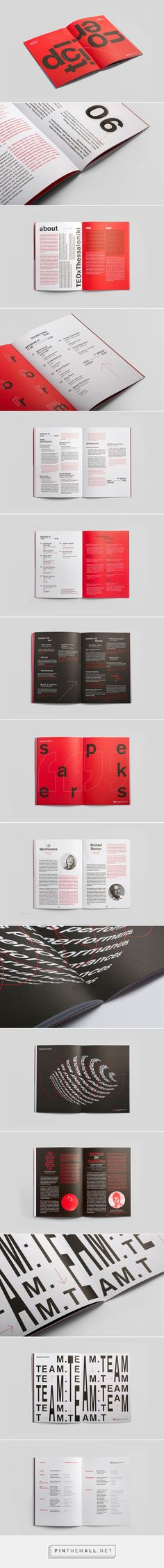 TEDx Thessaloniki 2017 by Filimonas Triantafyllou Editorial Design Magazine, Editorial Layout, Magazine Design, Page Layout Design, Book Layout, Brochure Layout, Brochure Design, Graphic Design Print, Graphic Design Inspiration