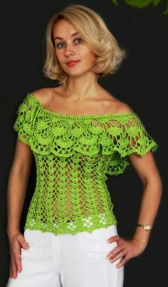 Hello crocheters, today I will share with you the free pattern of this beautiful blouse crochet. This crochet blouse is wonder.Crochet Hooks and YarnChildren blanket plaid pattern with curved columns Gilet Crochet, Crochet Tunic, Crochet Clothes, Crochet Lace, Crochet Bikini, Crochet Tops, Crochet Designs, Crochet Patterns, Pull Torsadé