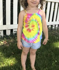 07d6f6161be Items similar to Little girls top girls tie dye size 18 m hand dyed kids  spiral kids tie dye rainbow kids girls tank top girls summer clothes gift  for girl ...