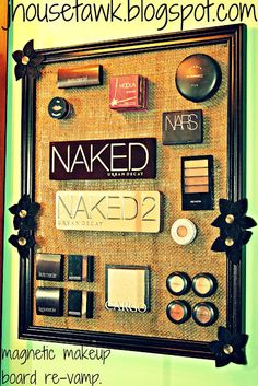 There is a link to the tutorial for the original make-up board in this re-vamp post: J House Tawk: Magnetic Makeup Board {change-up}