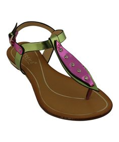 Another great find on #zulily! Green & Pink Ann Sandal by Eddie Marc & Co. #zulilyfinds