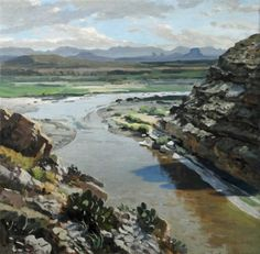 David  Caton - To the North from the Mouth of Santa Elena Canyon_ Big Bend