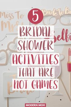 5 unique and interactive bridal shower activities that are not games. All of these ideas are alternatives to traditional bridal shower games. Bridal Shower Cakes, Bridal Shower Party, Bridal Shower Decorations, Bridal Shower Invitations, Bridal Showers, Baby Showers, Bridal Shower Planning, Bridal Shower Checklist, Bridal Shower Advice