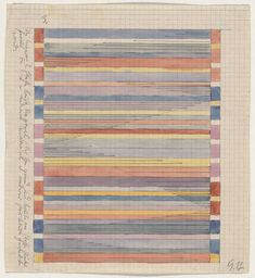 Gunta Stotzl's sketch for the wool on Breuer's African Romantic Chair. ('Bauhaus 1919-1933: Workshops for Modernity' exhibit, MoMA)