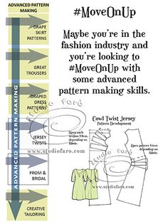 Advanced #PatternMaking  #Fittings First Limited seats. #sydney #marrickville #MoveOnUp