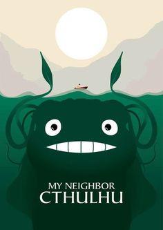 Cthulhu/Totoro mash up