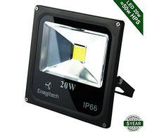 Enegitech 20W LED Flood Light 6000K Waterproof $12.59 (amazon.com)
