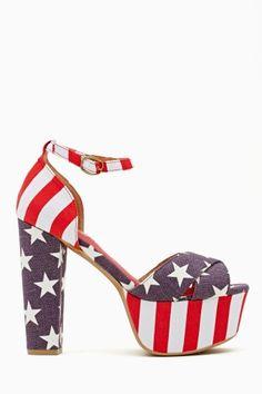 El Carmen Platform - American Flag in Shoes at Nasty Gal
