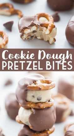 Cajun Delicacies Is A Lot More Than Just Yet Another Food Cookie Dough Pretzel Bites - Cookie Dough Pretzel Bites Offer The Irresistible Combination Of Cookie Dough, Pretzels, And Chocolate In A Perfectly Portioned Dessert Brownie Desserts, Desserts To Make, Sweet Desserts, No Bake Desserts, Sweet Recipes, Delicious Desserts, Yummy Treats, Easy Fun Desserts, Baking Desserts