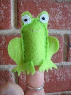 Frog Finger Puppet, Handmade Gifts for Kids