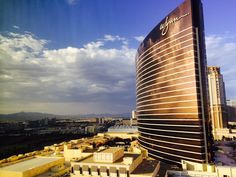 View of the Wynn from Encore suite in Las Vegas