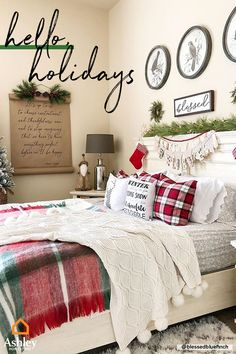 Cozy Christmas Bedroom Decor Ideas for the Holidays - Christmas Decorations - [post_tags Holiday Room Decor, Bedroom Decor, Christmas Bedding, Holiday Bedroom, Minimalist Christmas, Farmhouse Christmas, Cozy Christmas, Christmas Bedroom, Christmas Room