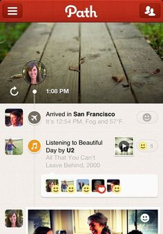 3/2012  Path Launches 2.1 Update: Music Match, Nike+ Support, And An API You Can't Use Yet | TechCrunch