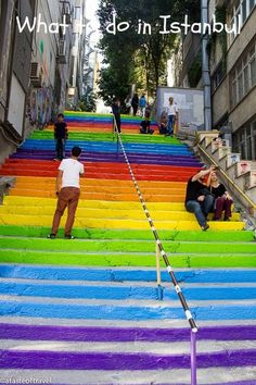 What to do in Istanbul: Climb the painted stairs that join Findikli to Cihanger (directions on the blog)