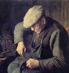 Leo Steel 1878 - 1938 Portrait of Nest Pauwels,the harness maker - 1937 Working Man, Working Class, Planes Of The Face, Aesthetic Objects, Nostalgic Art, Steel Art, Day Work, Art Studies, Family History