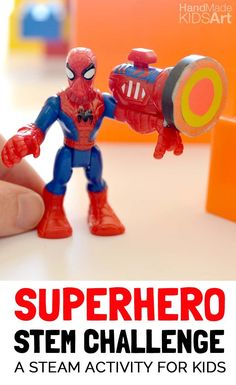 Superhero STEM Challenge for Kids. Explore the force of magnets with this superhero STEM challenge.