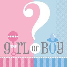Gender Reveal Lunch Napkins 20ct