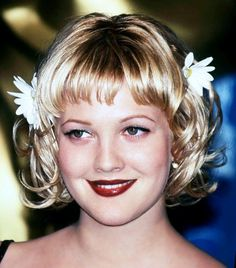 Drew Barrymore, 90's fashion. I LOVED this look on her back in the day!