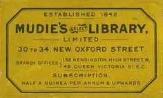 [Bookplate of Mudie's Select Library] by Pratt Libraries, via Flickr