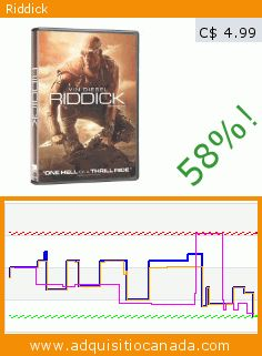 Riddick (DVD). Drop 58%! Current price C$ 4.99, the previous price was C$ 11.99. By David Twohy, Karl Urban, Vin Diesel. https://www.adquisitiocanada.com/eone-films/riddick