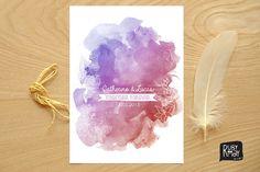 Sunset Wedding Invitation Beach Wedding by RubyMayDesign on Etsy