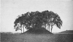 An 8 foot skeleton was removed from this burial mound in Ohio, that is still vsible today