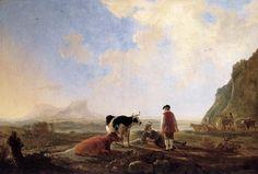 Paintings Reproductions Cuyp, Aelbert Herdsmen with Cows